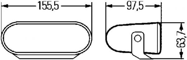 Miglas lukturu komplekts Hella FF75 miglas lukturi