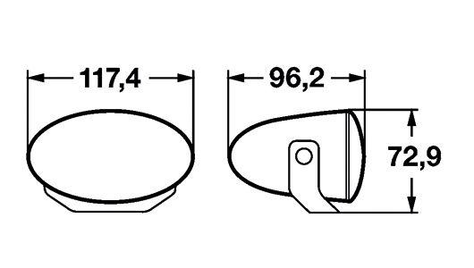 Papildlukturu komplekts Hella FF50 lukturu kompl.