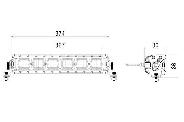 Lukturi darba Hella ValueFit LBX-380 LED