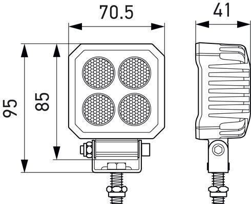 Lukturi darba Hella ValueFit LED 1700lm