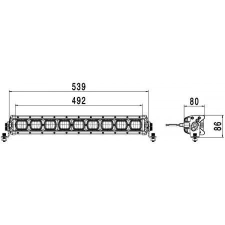 Papildlukturi Ref. 37,5 Hella DLB-540 LED tālā gaisma