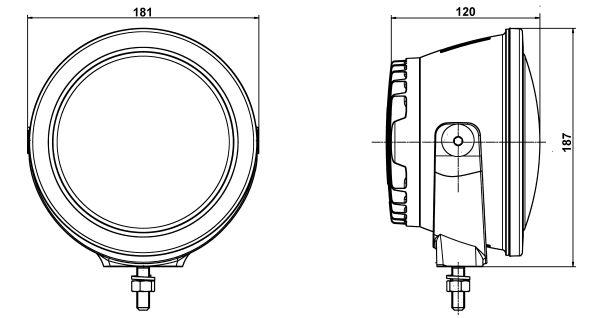 Papildlukturi Ref. 45 Luminator Compact LED, 12-24V