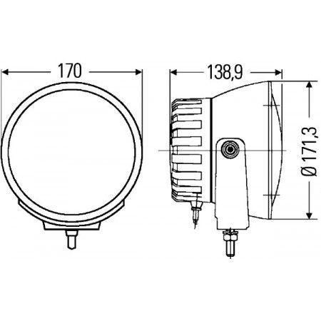 HELLA papildu prožektors Luminator Compact Xenon