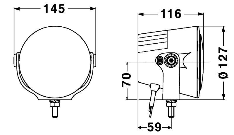 High-beam headlamp (ECE Ref. 37.5)
