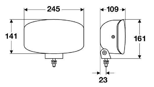 Papildlukturi Ref. 37,5 HELLA Jumbo 320 FF ar gabarītgaismu